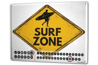 Perpetual Calendar Warning Labels Prohibition Surf zone...