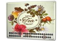 Perpetual Calendar Nostalgic Herbal tea Tin Metal Magnetic