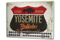 Perpetual Calendar Holiday Travel Agency Yosemite Sierra...