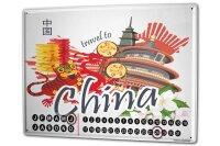Perpetual Calendar Holiday Travel Agency China Tin Metal...