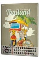 Perpetual Calendar Holiday Travel Agency Thailand Tin...