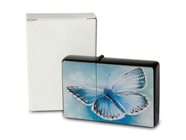 A. Warminski Pocket Vintage Windproof Lighter Brushed Oil Refillable blue