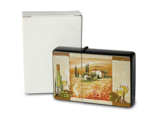 A. Warminski Pocket Vintage Windproof Lighter Brushed Oil Refillable Provence wine