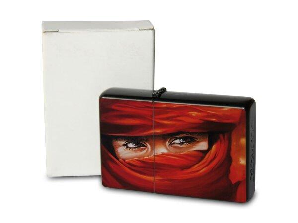 A. Warminski Pocket Vintage Windproof Lighter Brushed Oil Refillable Arab woman