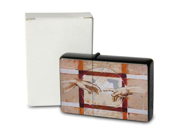 A. Warminski Pocket Vintage Windproof Lighter Brushed Oil Refillable Art Painting