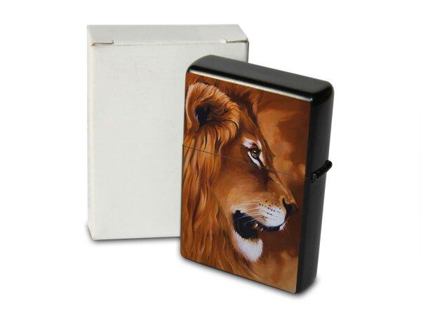 A. Warminski Pocket Vintage Windproof Lighter Brushed Oil Refillable lions Head
