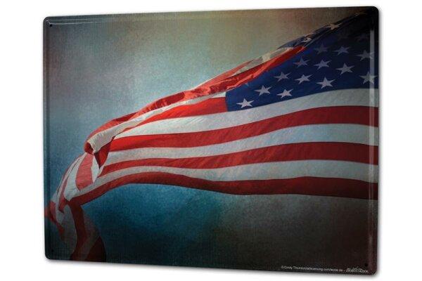 Blechschild XXL Urlaub Reisebüro Flagge USA