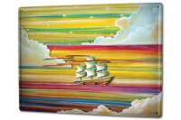 Tin Sign XXL Kitchen Ship Sailing ship