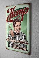 Pit Hammann Tobacco Tin Sign Deco Plate Hemp joint...