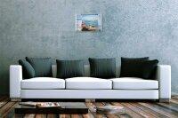 Franz Heigl Blechschild Welt Reise Gemälde Boote Pelikan Hafen Wand Deko Schild 20X30 cm
