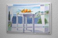 Franz Heigl Blechschild Welt Reise Gemälde Meer Küste Wand Deko Schild 20X30 cm