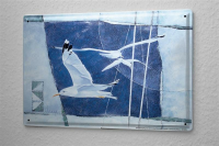 Franz Heigl Tin Sign Globetrotter Painting canvas gulls...