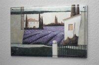 Franz Heigl Blechschild Urlaub Reisebüro Deko Gemälde Landhaus Lavendel 20X30 cm