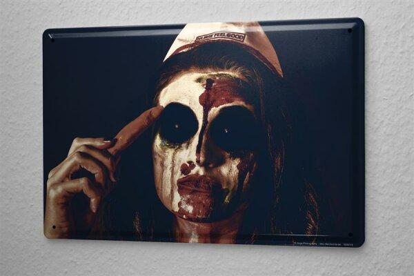 Jorgensen Blechschild Mittelalter Wand Deko Gothic Metall Schild 20X30 cm