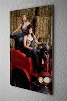 Blechschild Pin Up Erotik Deko Latzhose Traktor Metall...