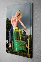 Blechschild Pin Up Erotik Deko Bikini Traktor Metall Wand...