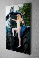 Blechschild Pin Up Erotik Deko Strapse Traktor Metall...
