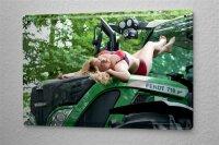 Blechschild Pin Up Erotik Deko Blondine Traktor Metall...