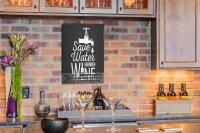 Perpetual Calendar Bar Party Water wine Tin Metal Magnetic