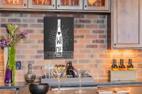Perpetual Calendar Bar Party Wine Tin Metal Magnetic