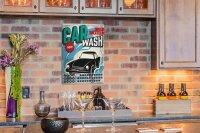 Perpetual Calendar Garage Car Wash Tin Metal Magnetic