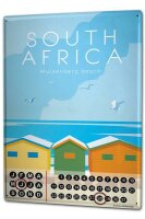 Perpetual Calendar Holiday Travel Agency South Africa Tin...