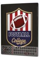 Perpetual Calendar Fun College Football Tin Metal Magnetic
