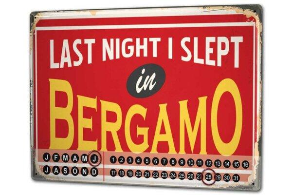 Dauer Wand Kalender Sport Bergamo Italien Metall Magnet