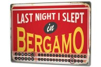 Perpetual Calendar Fun Bergamo Italy Tin Metal Magnetic