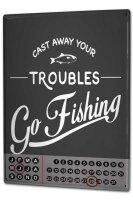 Perpetual Calendar Fun Fishing Tin Metal Magnetic