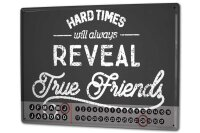 Perpetual Calendar Fun Best Friends Tin Metal Magnetic