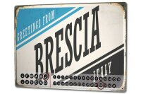 Perpetual Calendar City Brescia Italy Tin Metal Magnetic