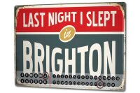 Perpetual Calendar City Brighton England Tin Metal Magnetic