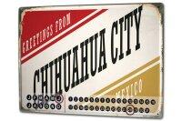 Perpetual Calendar City Chihuahua Mexico Tin Metal Magnetic