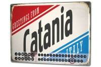 Perpetual Calendar City Catania Italy Tin Metal Magnetic