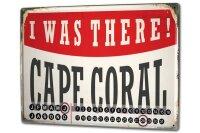 Perpetual Calendar City Cape Coral USA Tin Metal Magnetic