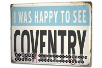 Perpetual Calendar City Coventry England Tin Metal Magnetic
