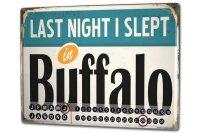 Perpetual Calendar City Buffalo USA Tin Metal Magnetic