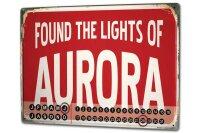 Perpetual Calendar City Aurora USA Tin Metal Magnetic