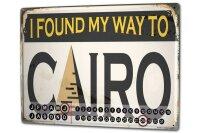 Perpetual Calendar City Cairo Egypt Tin Metal Magnetic