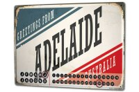 Perpetual Calendar City Adelaide Australia Tin Metal...