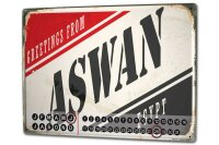 Perpetual Calendar Travel Kitchen Aswan Egypt Tin Metal...