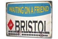 Perpetual Calendar City Bristol England Tin Metal Magnetic