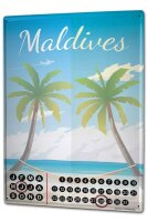 Perpetual Calendar Holiday Travel Agency Maldives Tin...