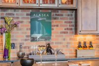 Perpetual Calendar Holiday Travel Agency Alaska USA Tin...