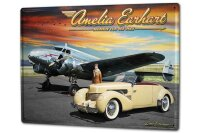 Tin Sign XXL Airplane Airport Classic car airplane pilot