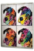 Tin Sign XXL Ravtive Vet Practice Colorful dogs