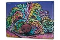 Tin Sign XXL Ravtive Vet Practice Colorful dog
