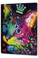 Tin Sign XXL Ravtive Vet Practice Colorful cat