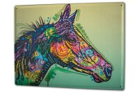 Tin Sign XXL Breed Colorful horse